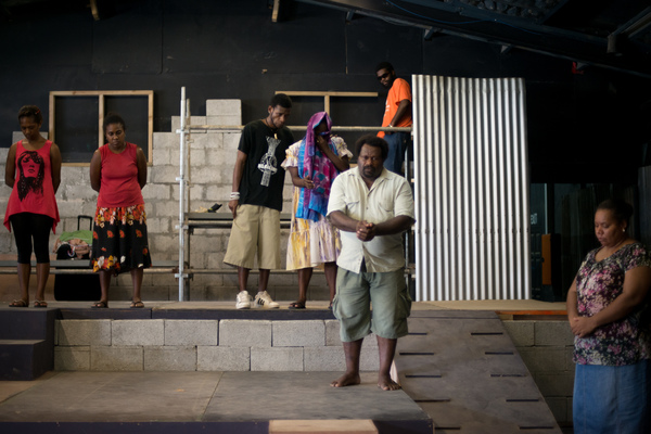 More shots from a rehearsal of Wan Smolbag Theatre's latest show.
