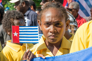Members of the public marched through Port Vila and up to the MSG Secretariat to voice their support for full membership for the ULMWP.