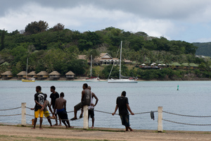 A worksite in Port Vila.