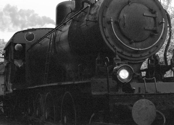 One of the things that has made Wakefield, Quebec into a popular tourist destination is the steam train that runs from Hull to Wakefield every day during the Spring, Summer and Autumn.  I was standing not 6 feet from the track, wedged in between the back wall of a restaurant and the locomotive, as the train steamed by. If you look  carefully, you can see that the conductor is on the verge of shouting at  me to get the [expletive] out of the way.