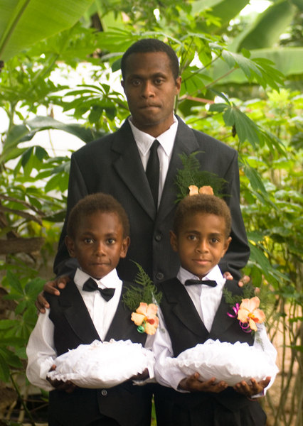 Donald with the ring bearers.