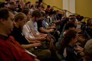 Laptops abound at the linux.conf.au conference, held this year in Wellington, NZ.